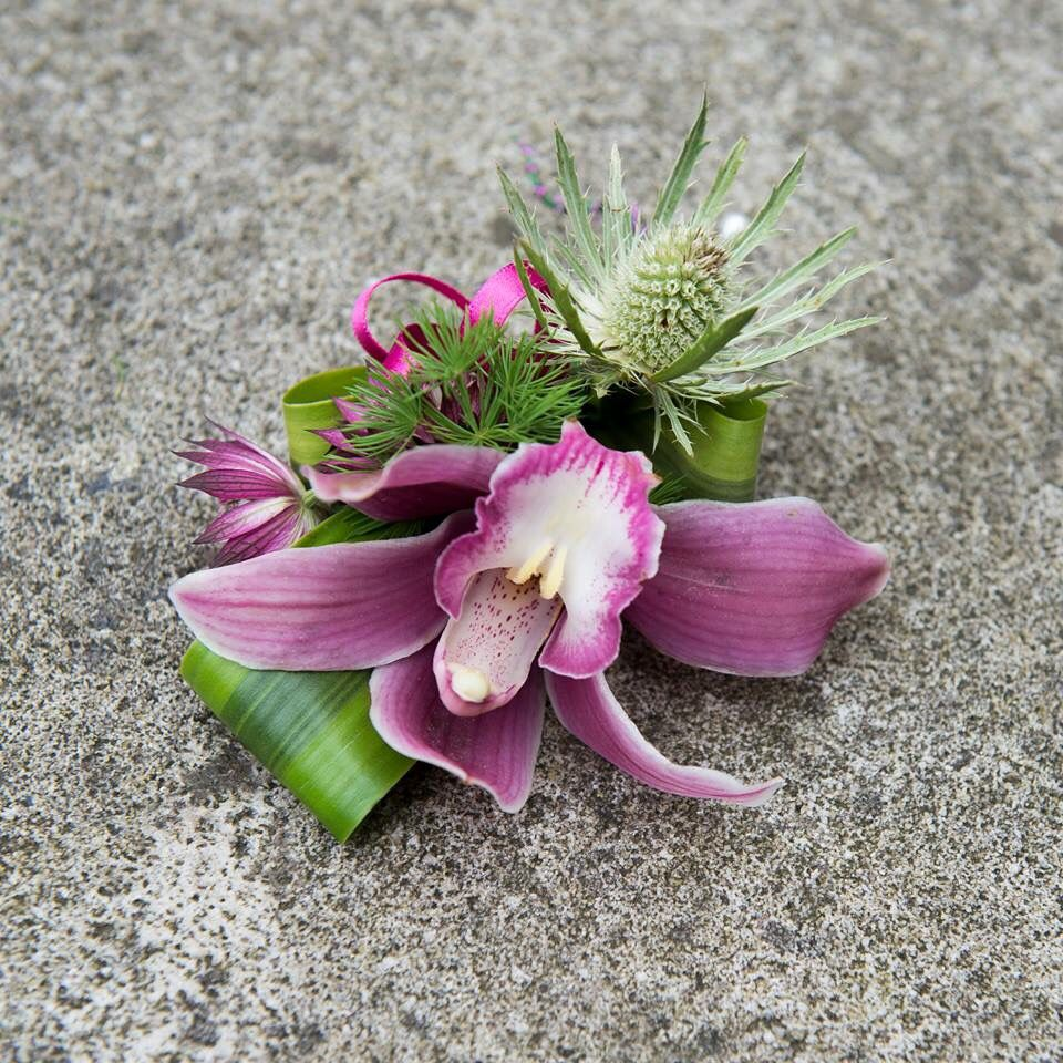 Cymbidium Orchid Wrist Corsages: Prom Flowers, Orchid Corsages