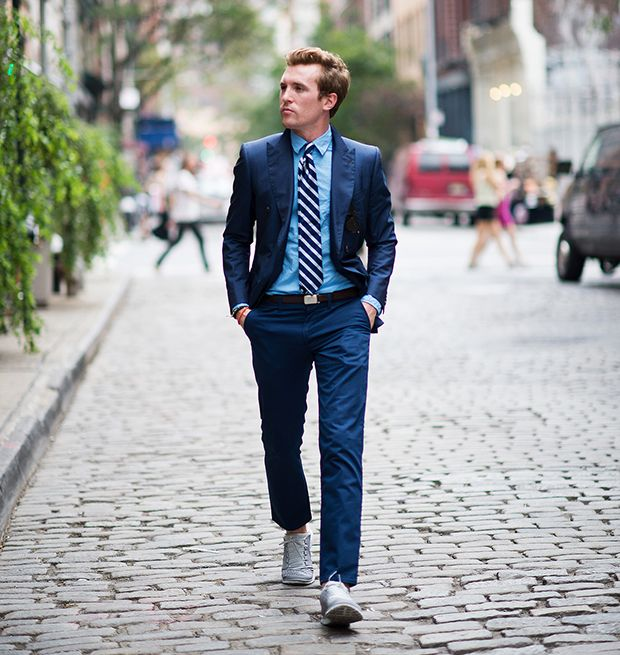 Navy is the new black: what color shirt goes best with a blue suit ...