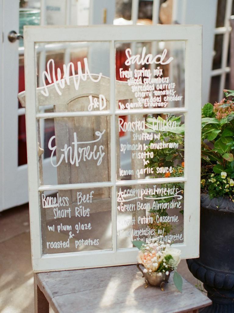 12 creative ways to display your wedding menu  wedding