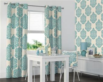 Teal Print Curtains Google Search To Show M Pinterest