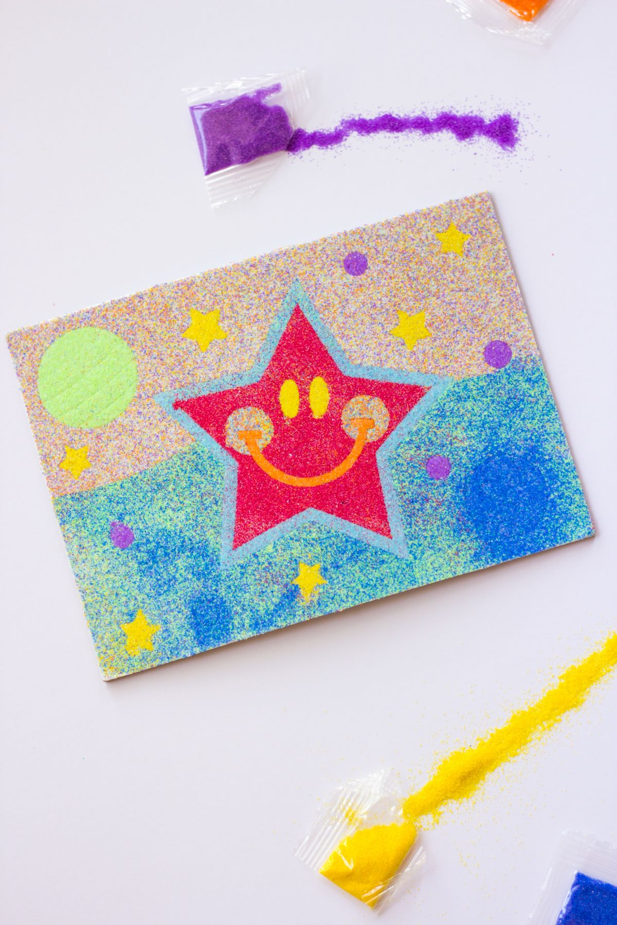 Colorful Space Sand Art Craft