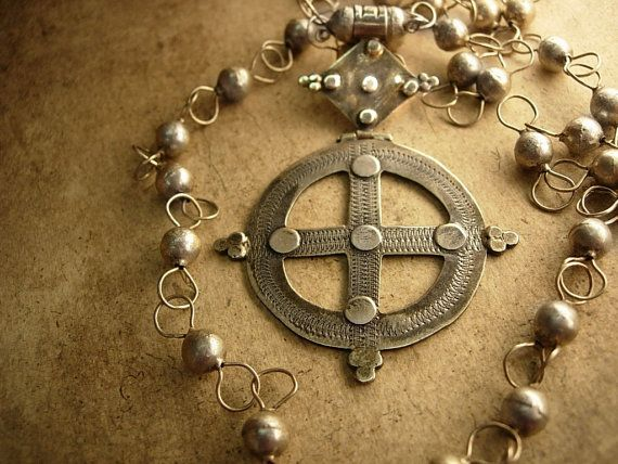 Antique Sterling  Medieval Ethiopian Cross by vintagesparkles, $325.00