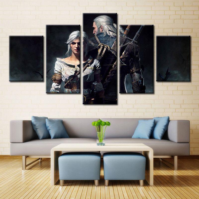the witcher 3 wild hunt wall art nerd life canvas wall art rh pinterest com