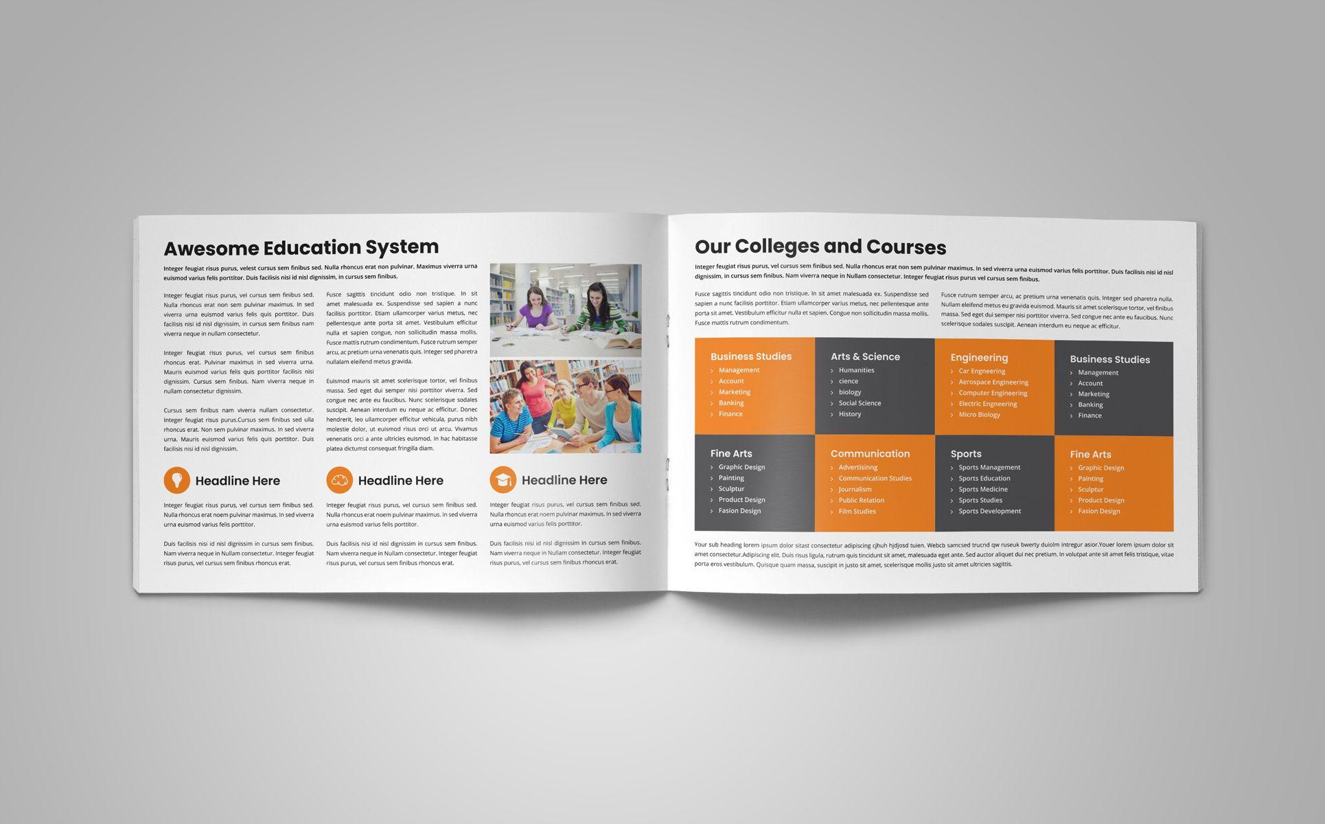 Education Prospectus Brochure Corporate Identity Template Ad Brochure Prospectus Education Template Corporate Brochure Brochure Design Template Brochure