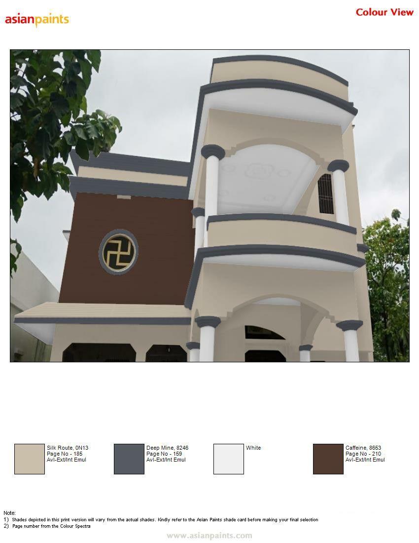 Pin By Manu 919441818532 On Top 200 Asian Paints Color Views House Paint Exterior Exterior Color Combinations Exterior House Colors