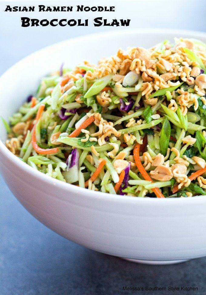 Asian Ramen Noodle Broccoli Slaw   Broccoli slaw recipes ...