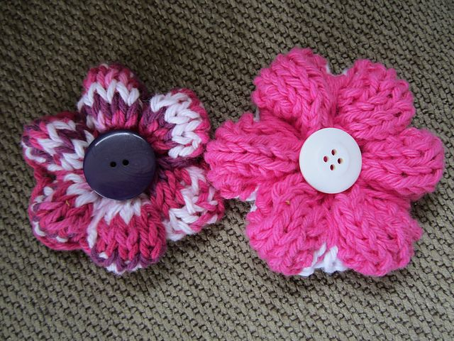 Ravelry Simple Knit Flower Pattern By Lara Simonson Sew What New Free Knitted Flower Patterns