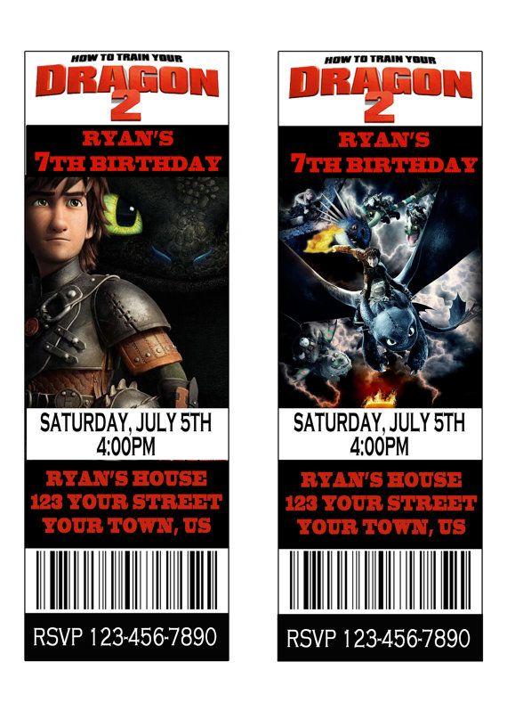 How To Train Your Dragon Invitation Ticket Invitation Movie