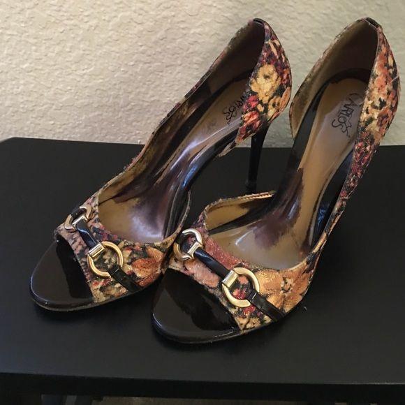 Carlos Santana Pumps (Used Condition) Carlos Santana Pumps (Used Condition) Needs new tips.  Show signs of wear. Carlos Santana Shoes Heels