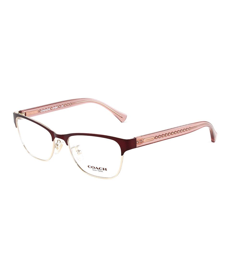 This Burgundy Amp Pink Browline Eyeglasses Frame By Coach Is