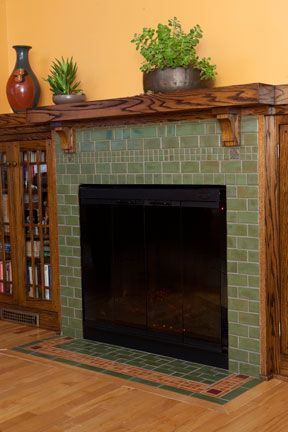 Ceramic tile fireplace hearth and face   Fireplaces ...