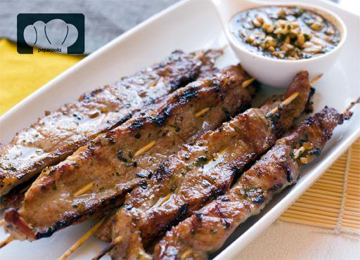 Brocheta de cerdo ib rico a la barbacoa carnes for Aperitivos para barbacoa