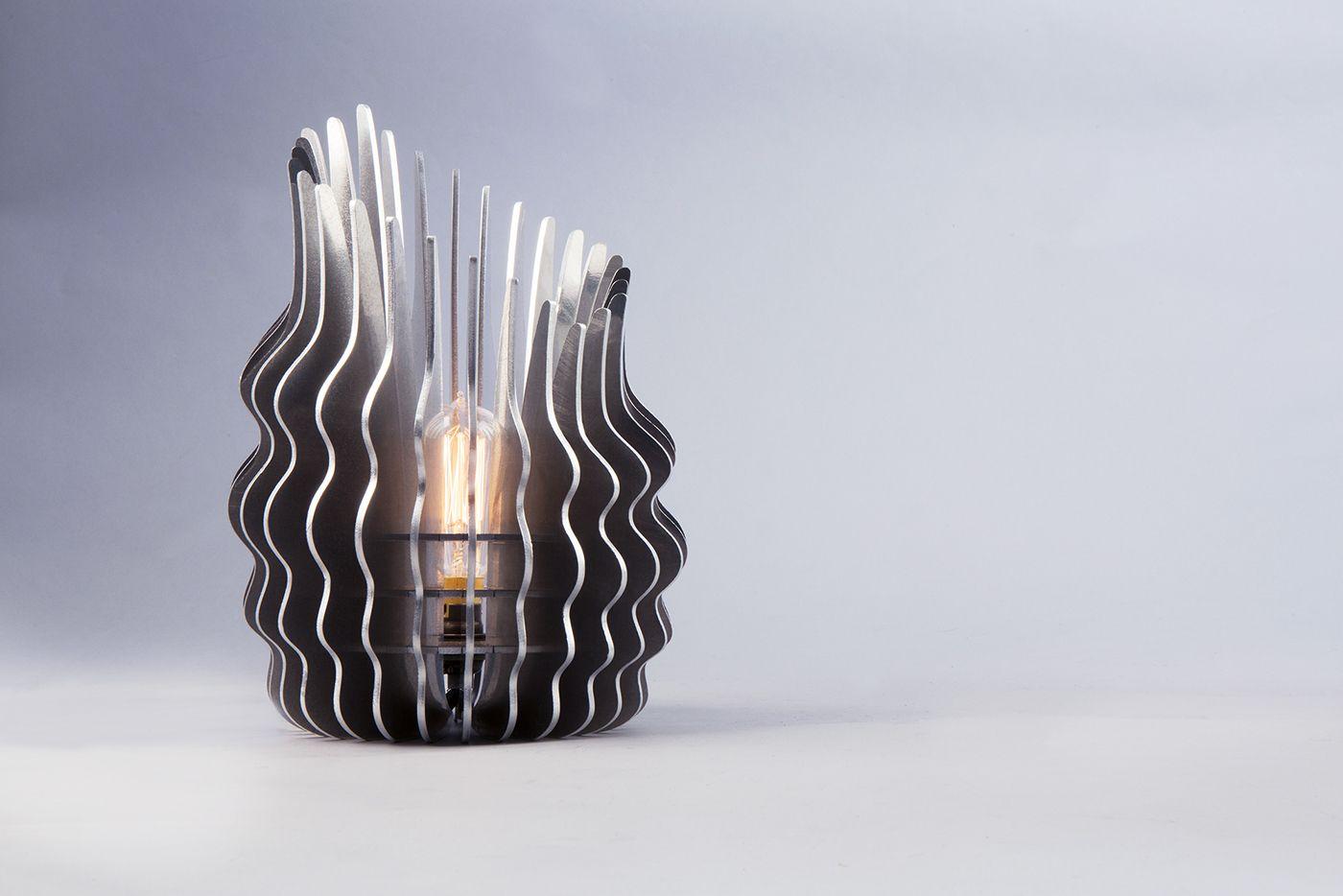 Ris Lamp On Behance Lamp Design Attic Design Aluminum Table