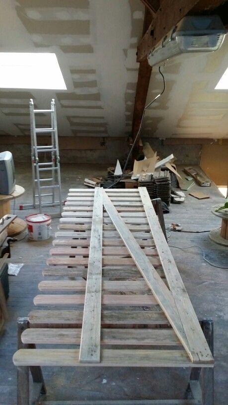 Barriere de jardin fabriqu e a partir d 39 une palette projets essayer pinterest barri re - Barriere en palette ...