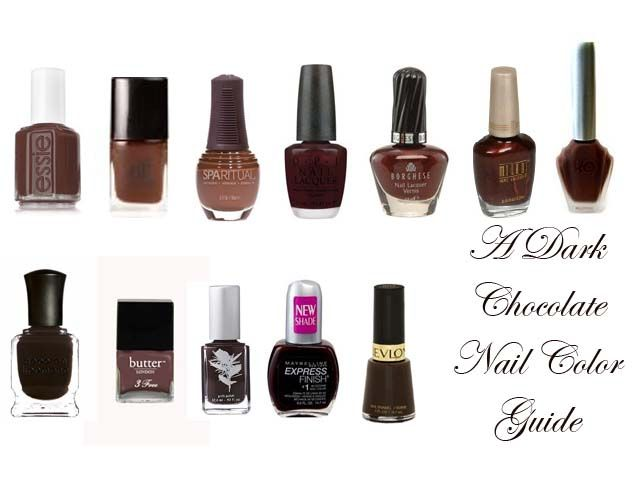 Chocolate Brown nail polish guide from www.eaumg.net | Hair, Nails ...