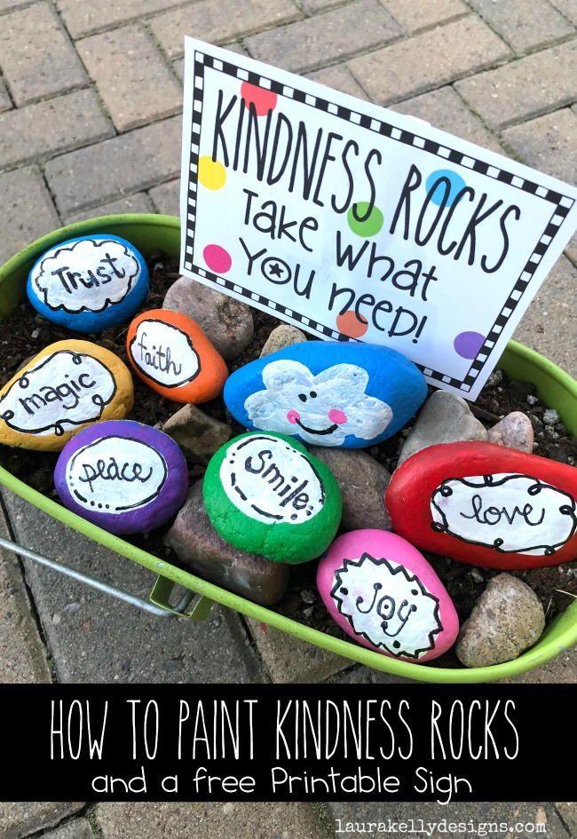 Kindess Rocks With A Free Printable
