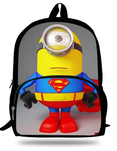 76cd1b22dfa2 16 inch Cartoon Children Boy Backpack Minions Bag Despicable Me Character School  Bags For Kids Mochila Escolar Menino