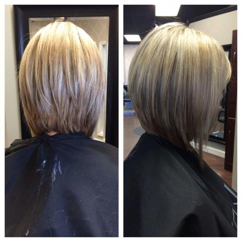 Medium Stacked Bob Haircut Back View Simple Invertedbobhaircut