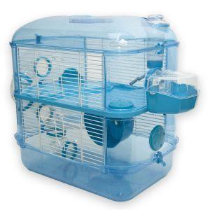 Fantazia 2 Storey Glitter Hamster Cage Blue This One Hamster Cage Hamster Cages Hamster