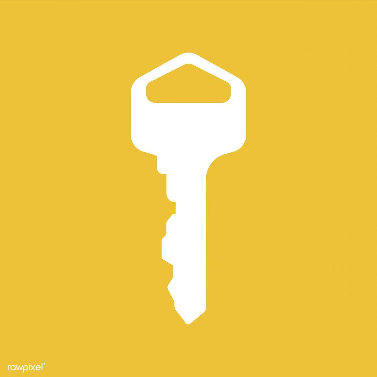 Key Icon On Yellow Background Premium Image By Rawpixel Com Key Icon Yellow Background Icon