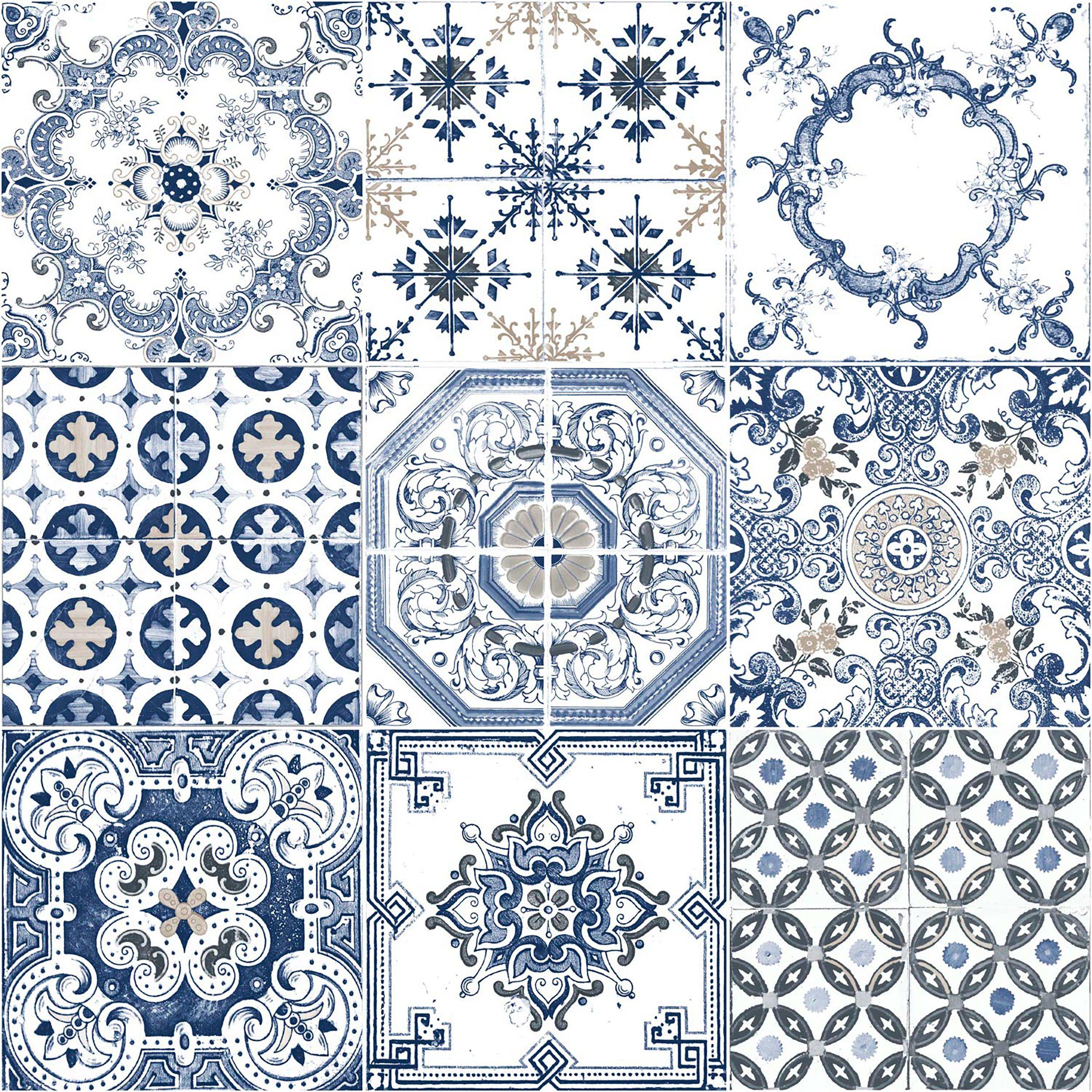 Azulejo Português Azul (Papel de Parede). Azulejos