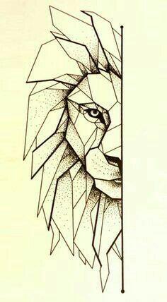 Pin By Gaby Martzyanu On Animale Lion Geometrique Tatouage