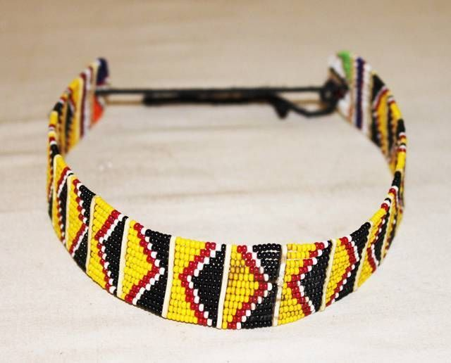 54bf815b8ba6ea AFRICAN MAASAI MASAI BEADED ETHNIC TRIBAL CHOKER NECKLACE JEWELRY - KENYA  #47 #Handmade