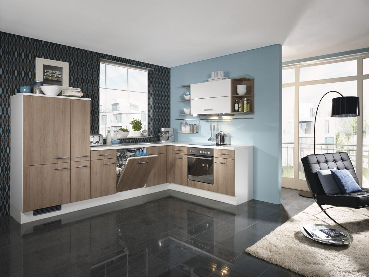 winkelk che ip 1200 silvabuche front silvanabuche nachbildung faltliftschrank wei regale. Black Bedroom Furniture Sets. Home Design Ideas