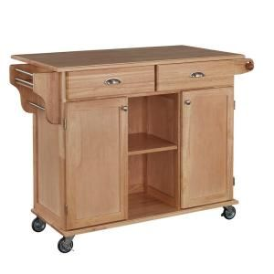 Homestyles Napa Natural Kitchen Cart With Storage 5099 95 The Home Depot In 2020 Rolling Kitchen Cart Home Styles Kitchen Cart