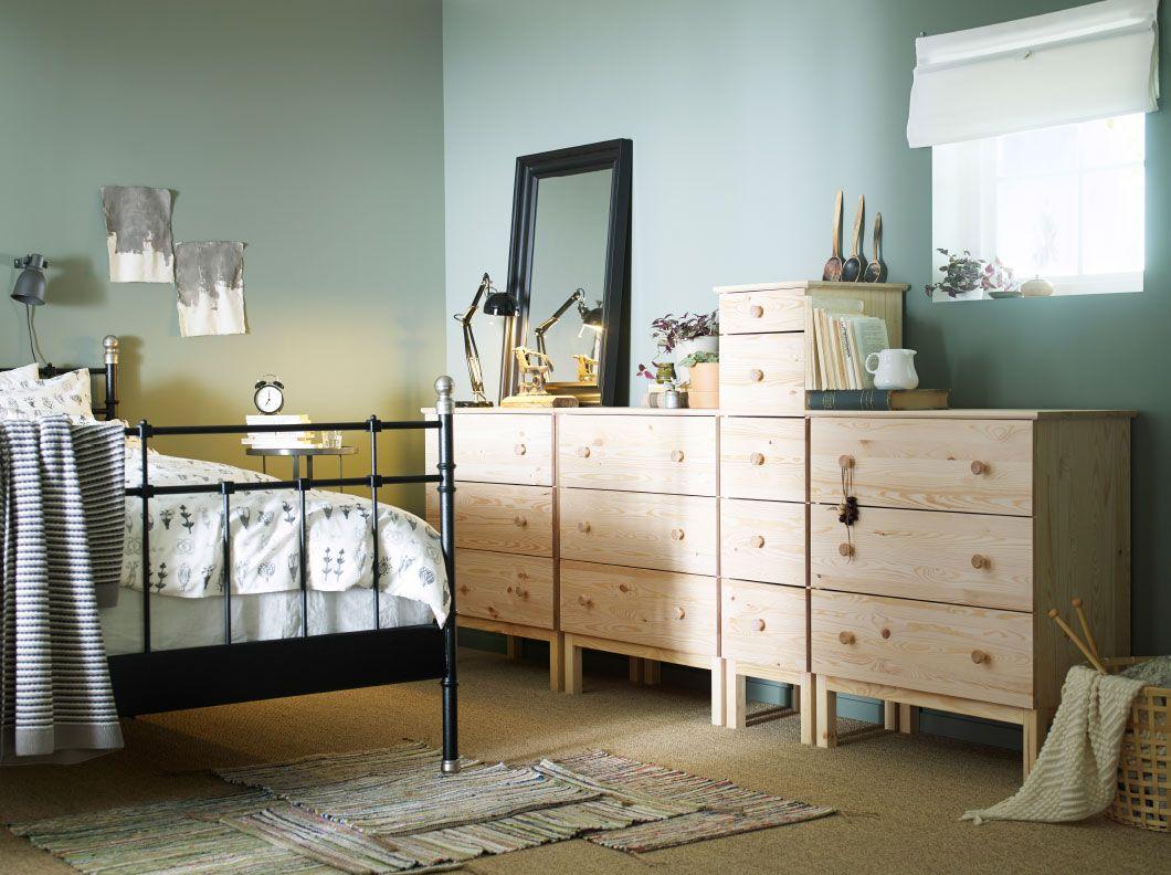 Außergewöhnlich Schlafzimmer Kommoden Mit Schubladen Das Beste Von Ein Tarva 3 Und 5 In Kiefer