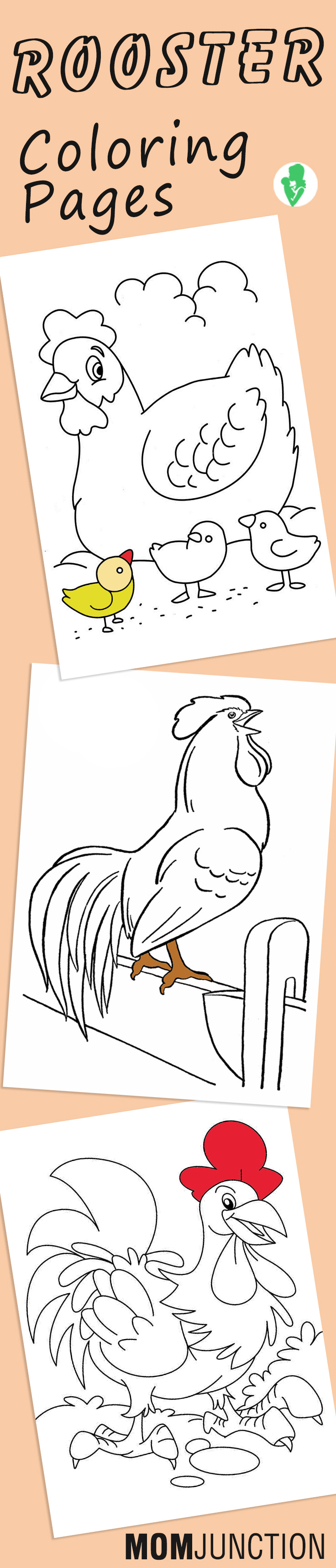 Top 10 Free Printable Rooster Coloring Pages Online | Free printable ...