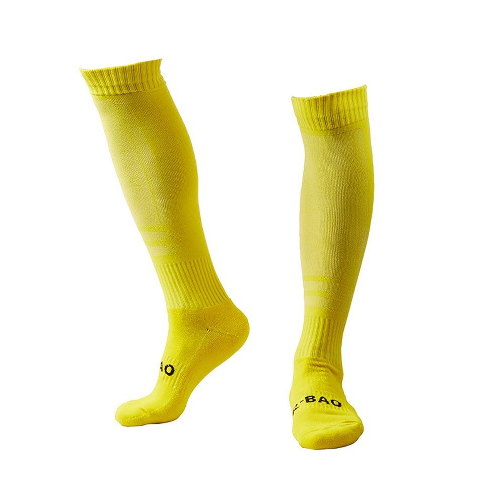 5771c53a9b4 Men s Sports Athletic Compression Football Soccer Socks Over Knee High Socks  (Yellow). Material