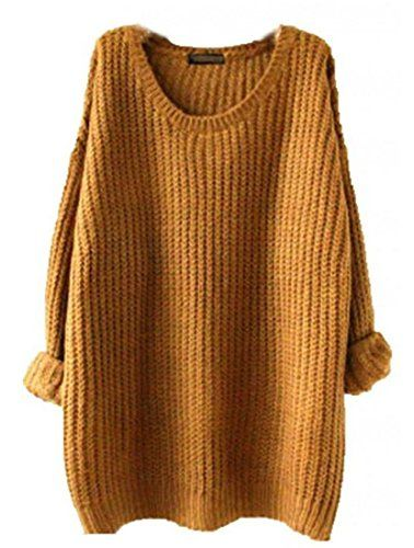 Minetom Womens Ladies Oversized Baggy Long Thick Knitted Long ...