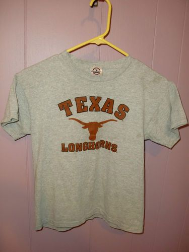 Texas Longhorns Youth Kids Size Large 14 16 Grey Delta Pro Weight T Shirt NCAA | eBay