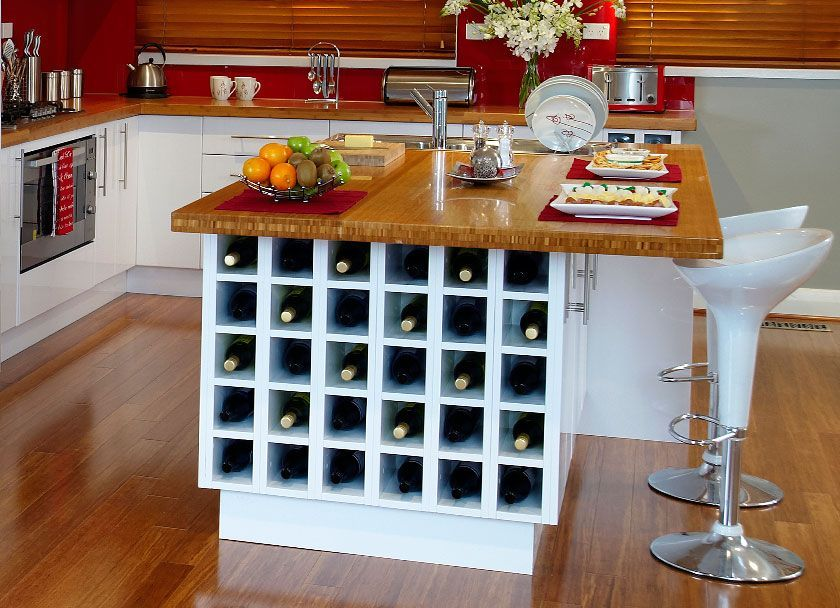 kaboodle kitchen the practical entertainer available at bunnings winerack islandbenchtop on kaboodle kitchen design id=72287