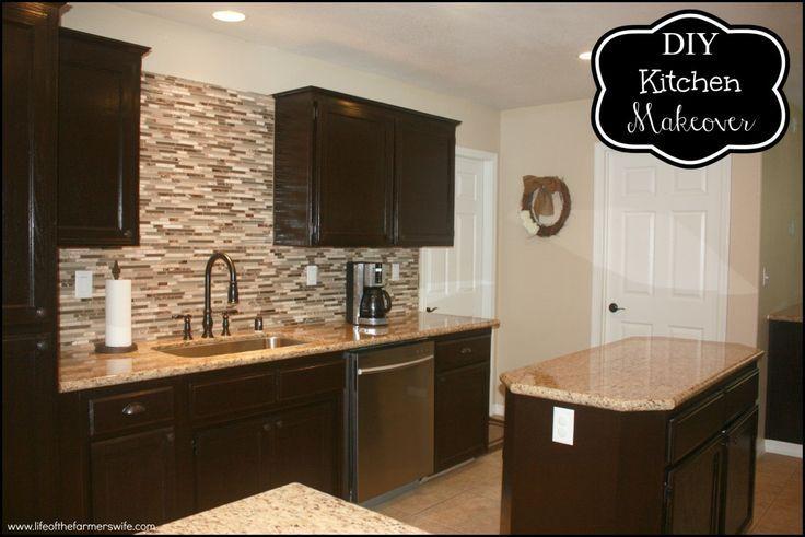 DIY Staining Kitchen Cabinets Dark Espresso | Stain ...