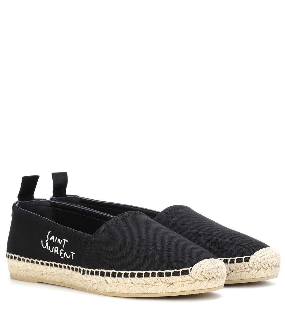 Saint Laurent Embroidered cotton espadrilles clearance footlocker pictures qcWv2Xa