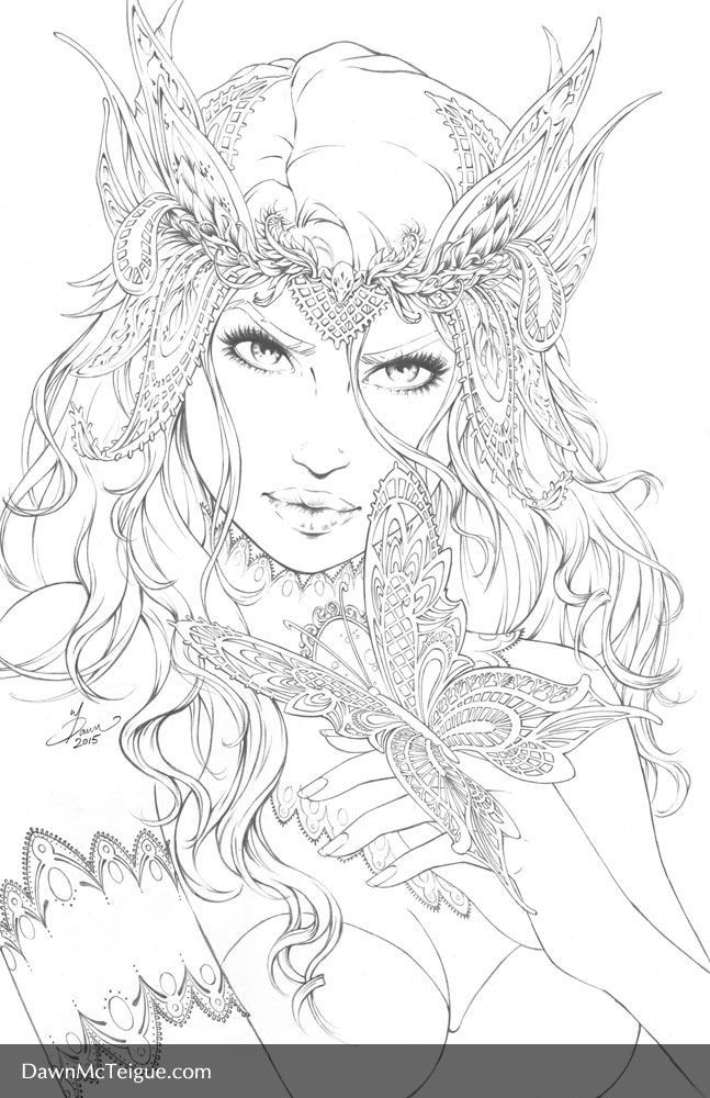 realistic fairies coloring pages | Butterfly Fairy | Adult Coloring Prints & Downloads ...