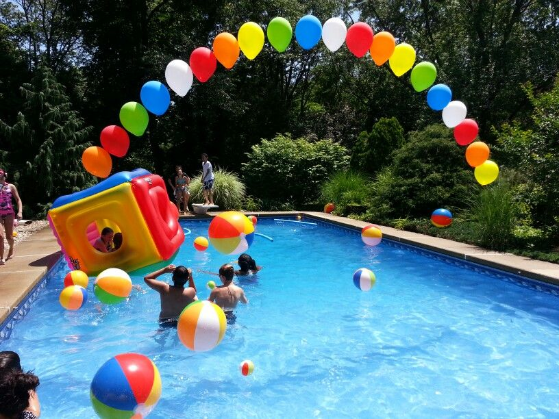 Piscinazo por mi cumplea os pool party pinterest mi for Albercas para fiestas