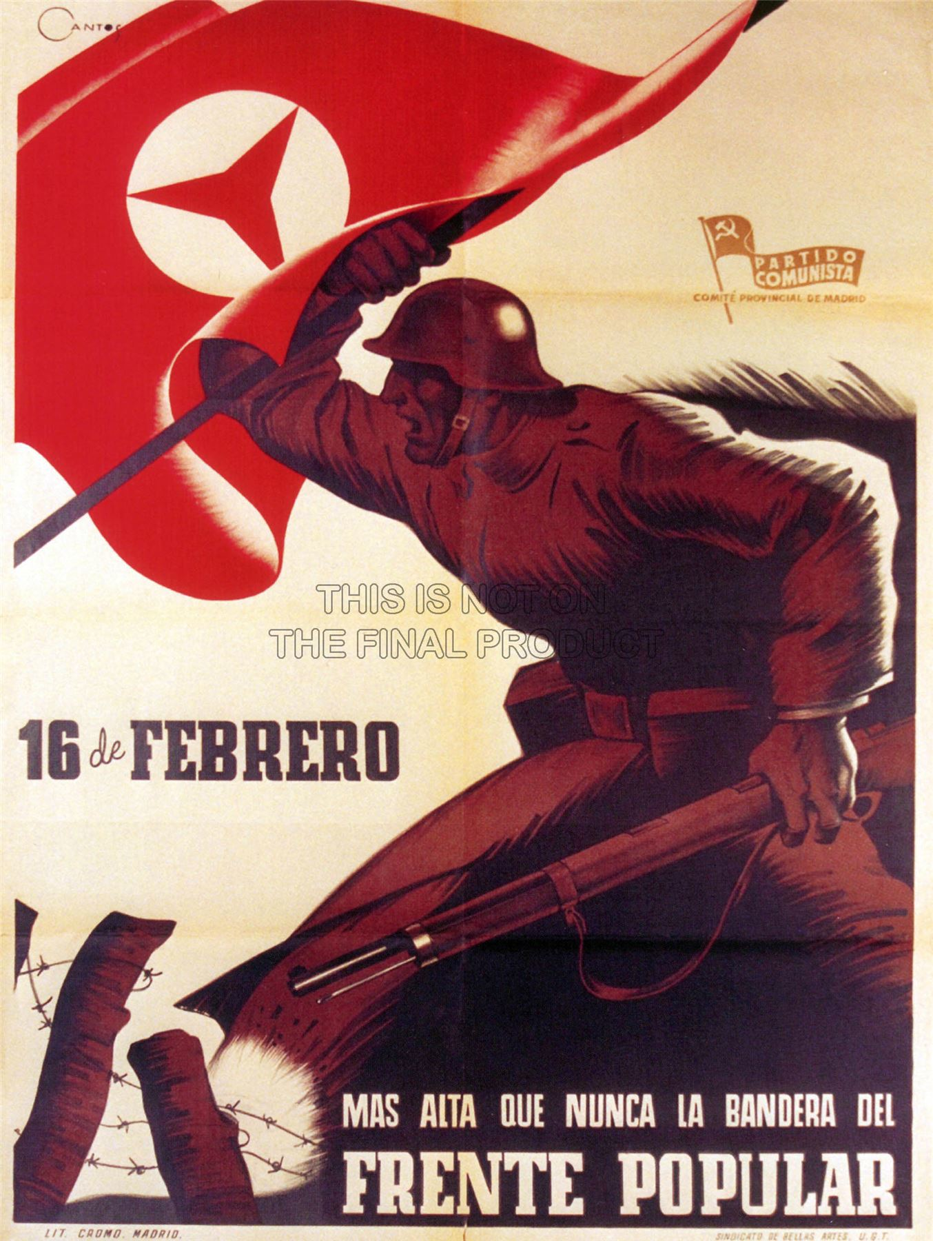 1930 s spanish civil war popular front poster