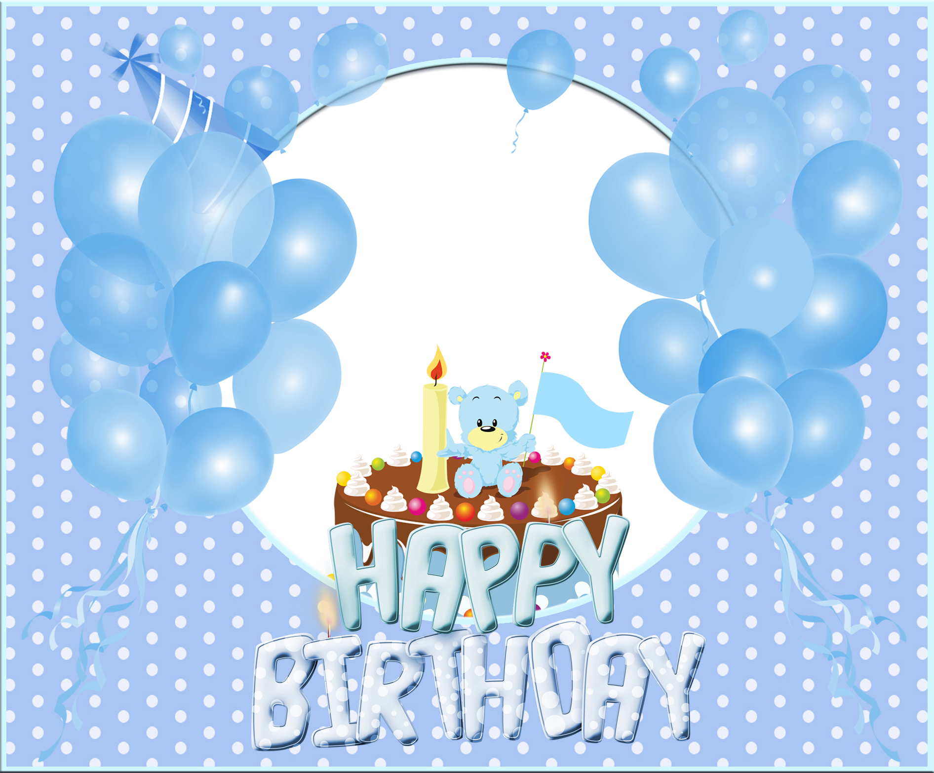 Transparent Happy Birthday Blue Frame Frames Pinterest Happy