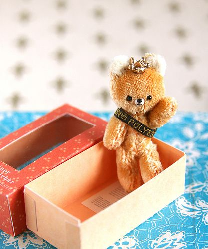 silk velvet bear | I made these tiny handmade bear for Etsy … | Flickr