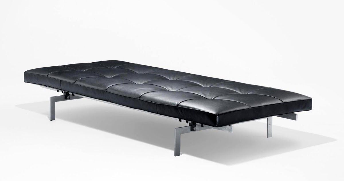 pk80 leather daybed poul kjaerholm - Leather Daybed