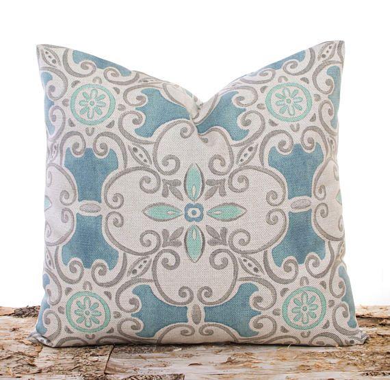Pillowcase In Spanish Gorgeous Blue Spanish Tile Pillowcase Throw Pillow Covers Lily Pillows