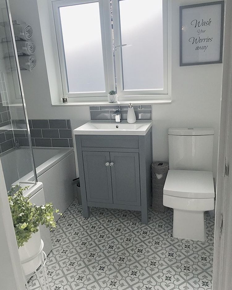 "Photo of Jen's Instagram profile post: ""Bathroom details **** I absolutely hated our bathroom! It was damp,leaking,tiny shower that trickled and a very much broken window! But now…"" – dekor bath"