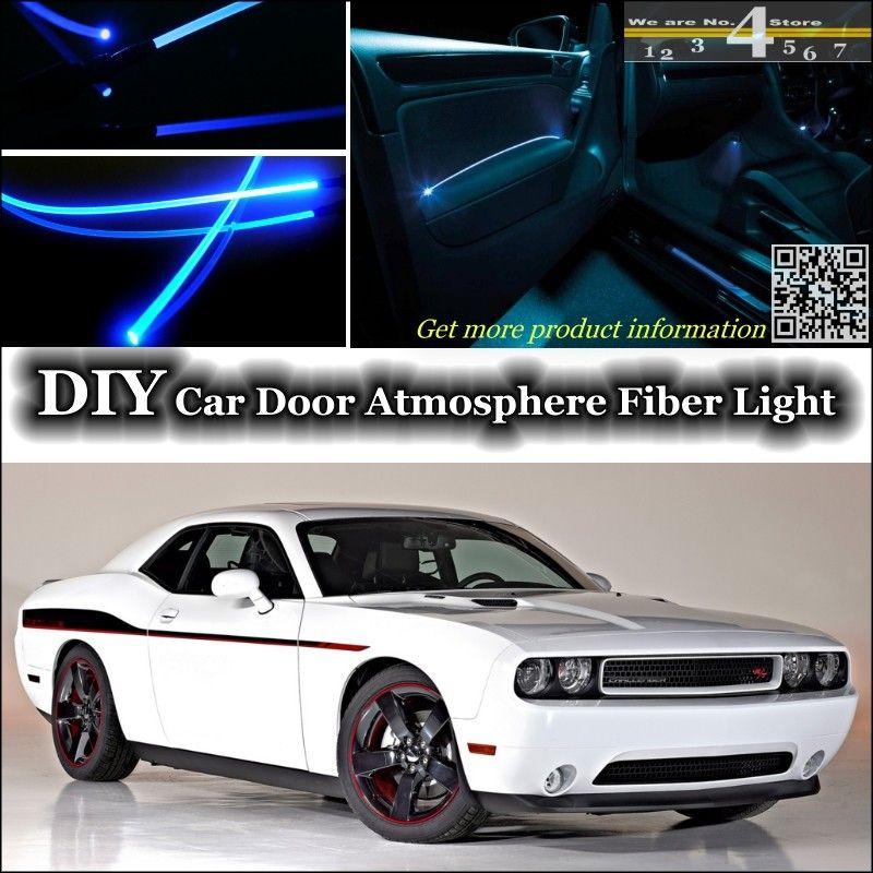 For Dodge Challenger SRT interior Ambient Light Tuning Atmosphere Fiber Optic Band Lights Door Panel illumination & For Dodge Challenger SRT interior Ambient Light Tuning Atmosphere ... pezcame.com