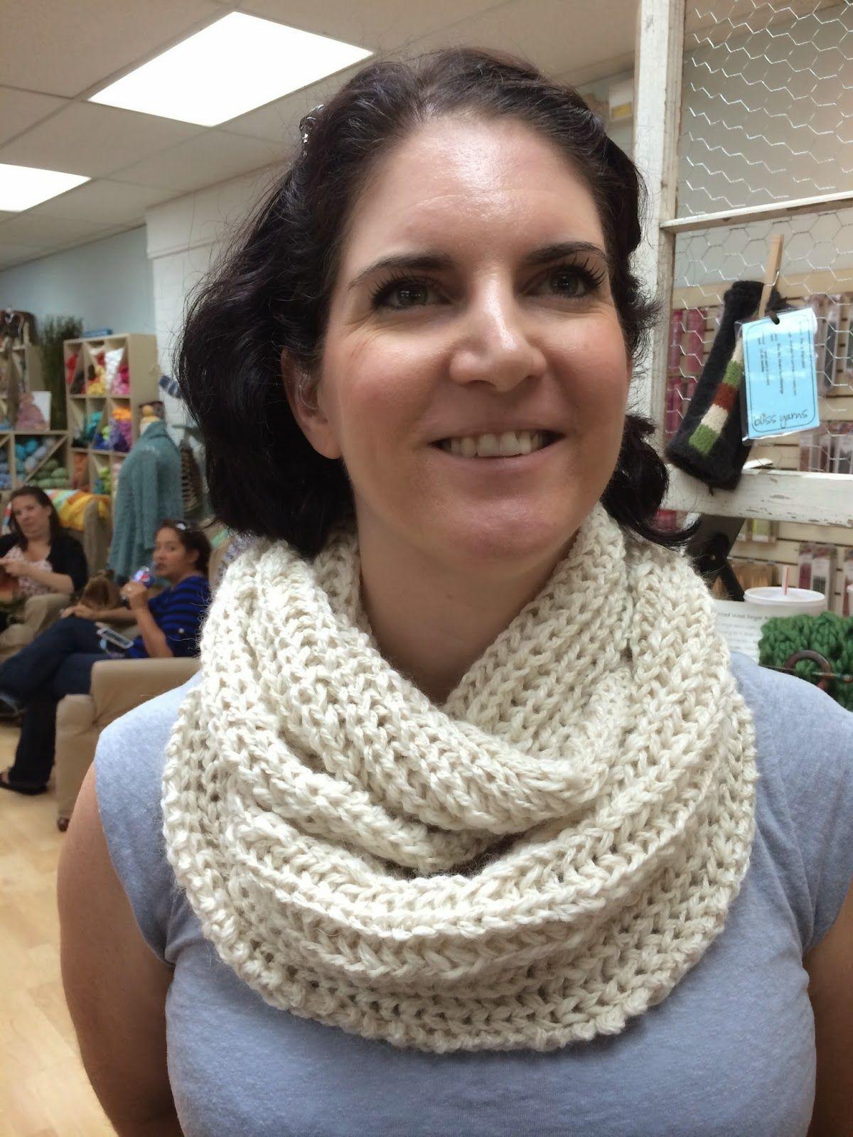 Brioche Rib Infinity   Infinity scarf knitting pattern ...