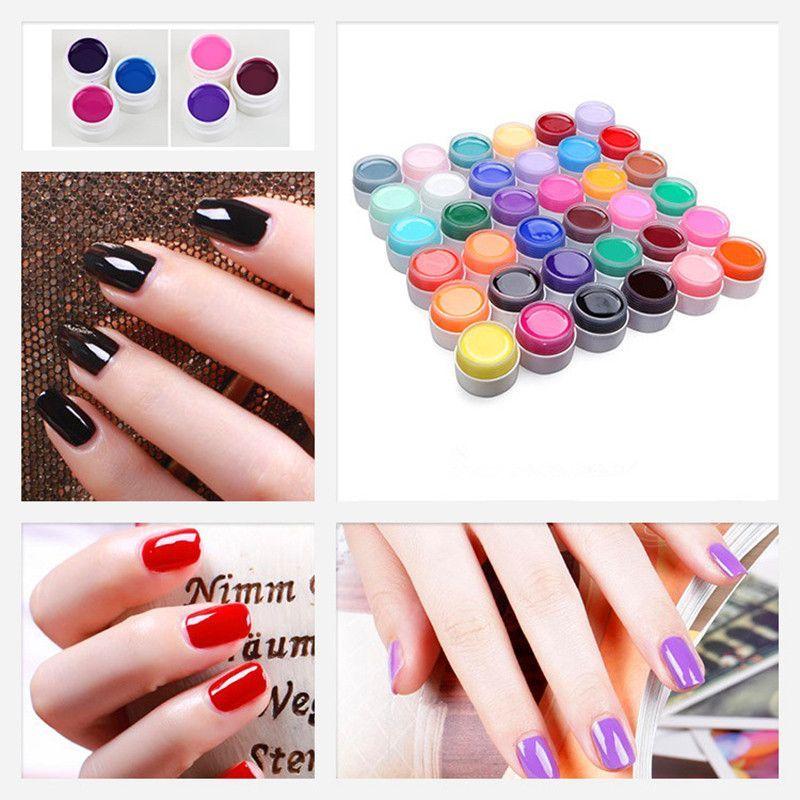 Nail Art UV Nail Gel Professional New 12 Mix Colors Nail Art Tips ...