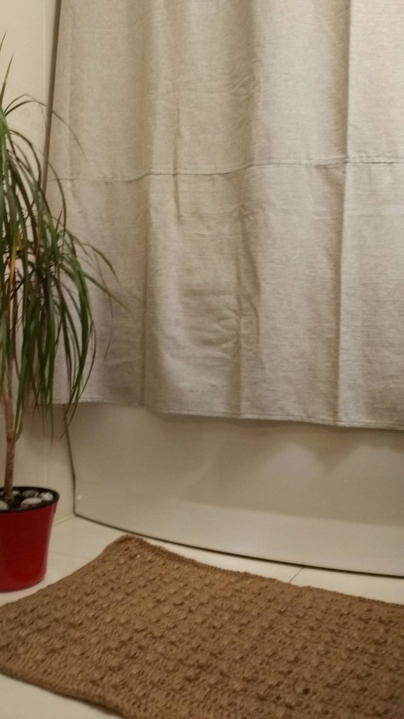 Organic Hemp Shower Curtains Bath Curtains Shower Curtain Shower