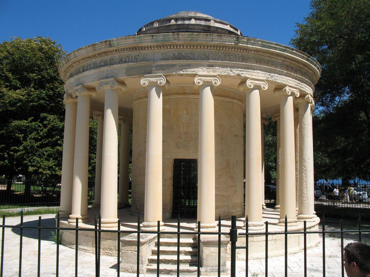 Greek Temple In Corfu Publicdomainpictures FREE PUBLIC DOMAIN PHOTOS